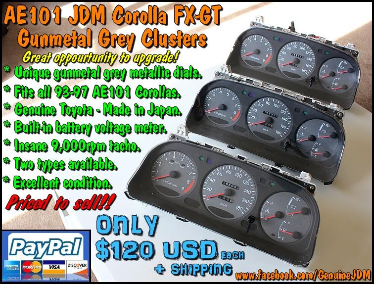 FS: AE101 Corolla FX-GT Gunmetal JDM Clusters IMG_9447
