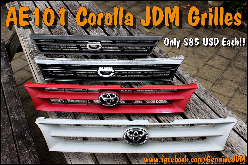 AE101 JDM Grilles For Sale - Only $85 USD Each!! Photo
