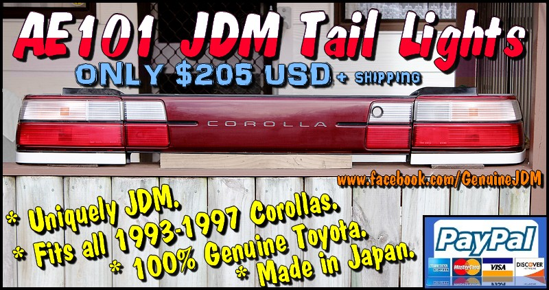 FS: AE101 JDM Red/Clear Tail Lights IMG_5779-2