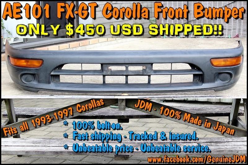 FS: AE101 Corolla FX-GT JDM Front Bumper Untitled