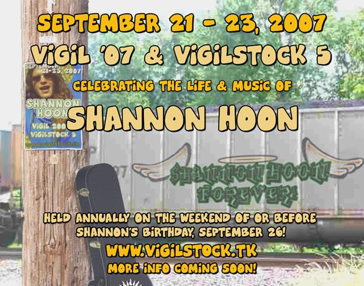 Vigilia Homenaje  Shannon Hoon Hoon_train_flyer