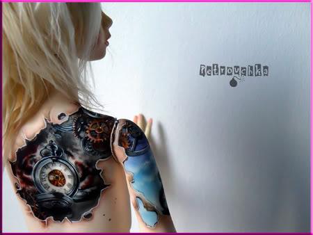 [Encres Folles] - Maquillage, tatouage Horloges3