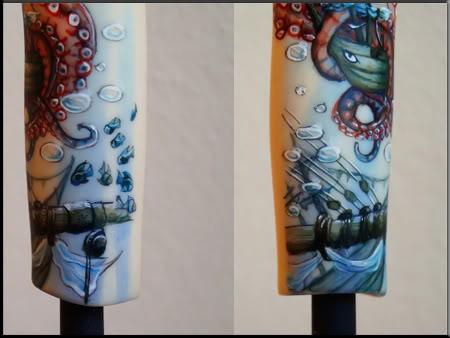 [Encres Folles] - Maquillage, tatouage Kraken_fini_details