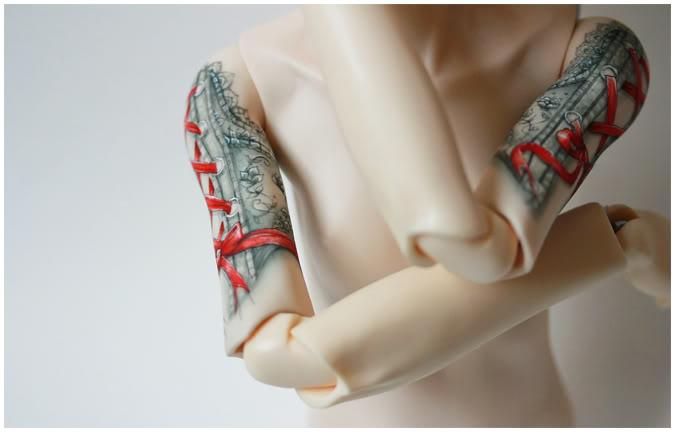 [Encres Folles] - Maquillage, tatouage Ribbon03