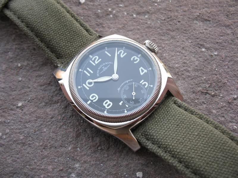 Feu des plus belles montres à lunettes guillochées Zeno012