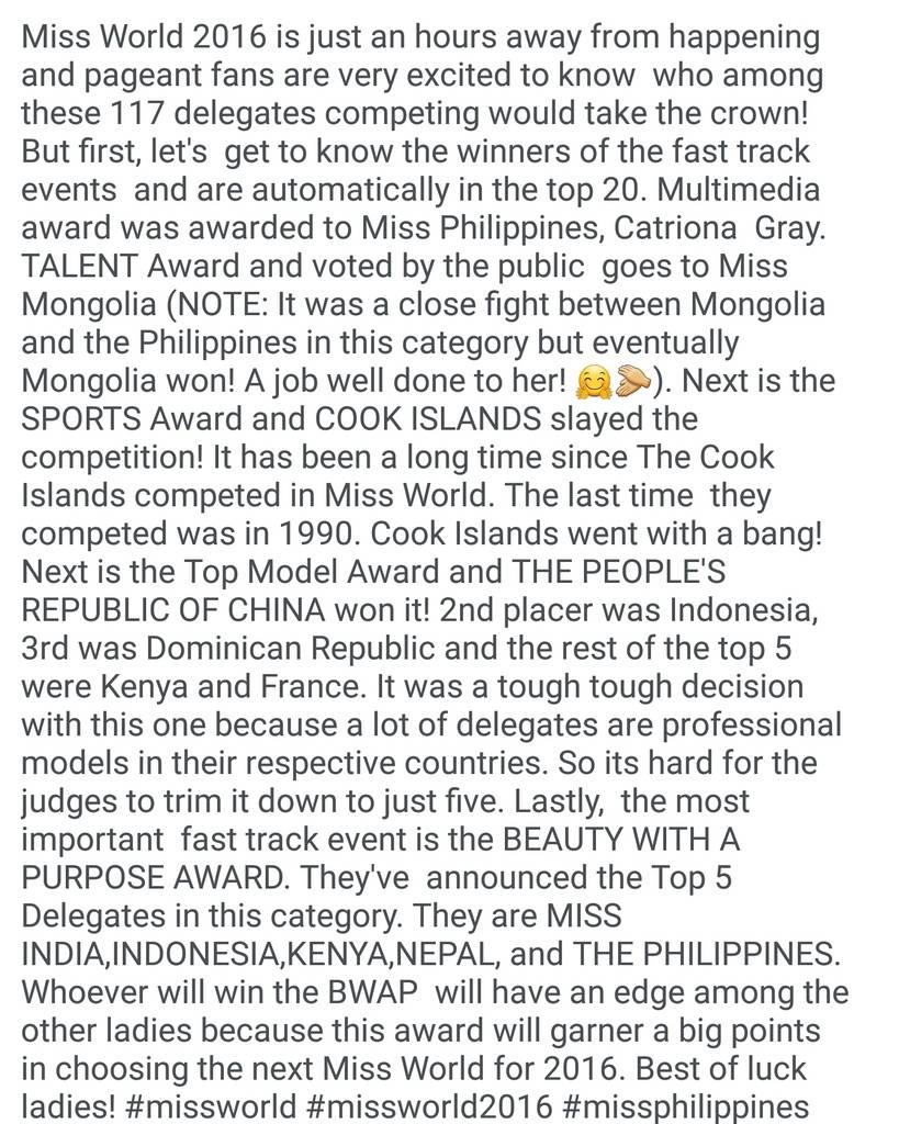 MISS WORLD 2016 FAST TRACK WINNERS  Screenshot_20161218-022300_zps44jbvjqj
