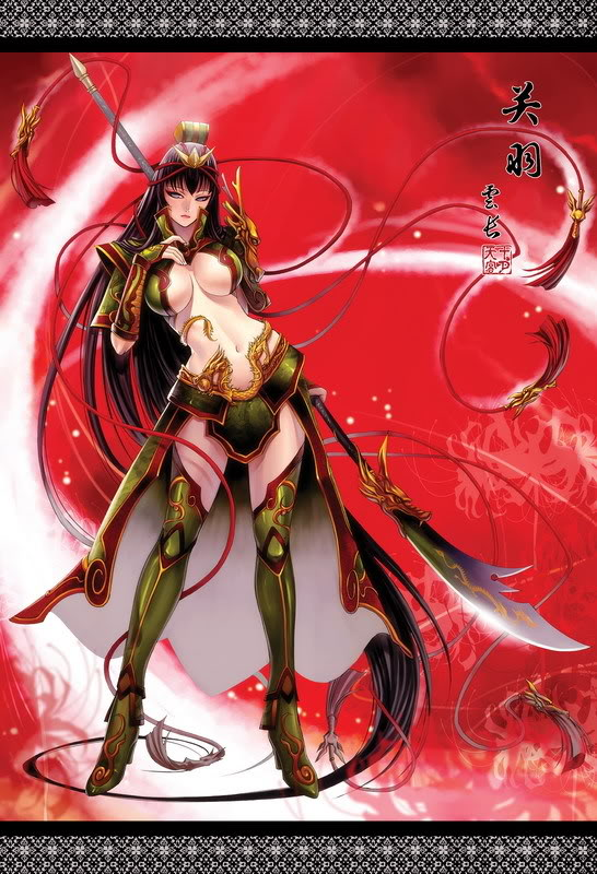 Nếu các nhân vật trong Tam Quốc Chí là Nữ ??? Guanyu