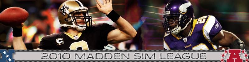 Madden 2010 Sim league