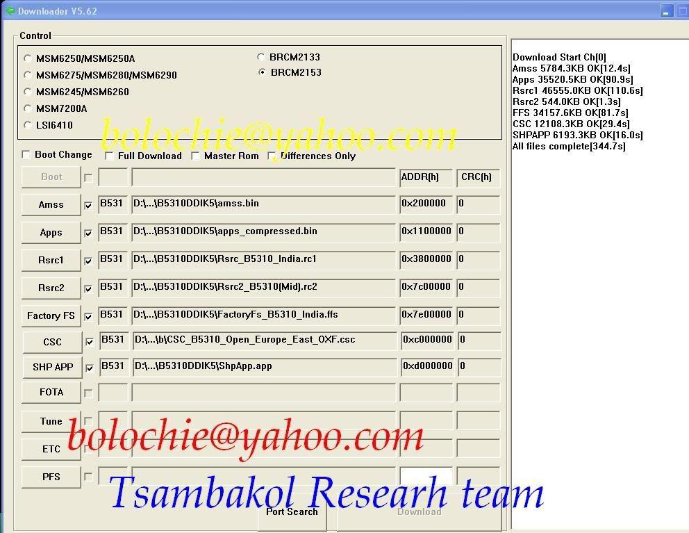 Samsung B5310 lockcode done Multiloader ver.5.62 Capturedxx