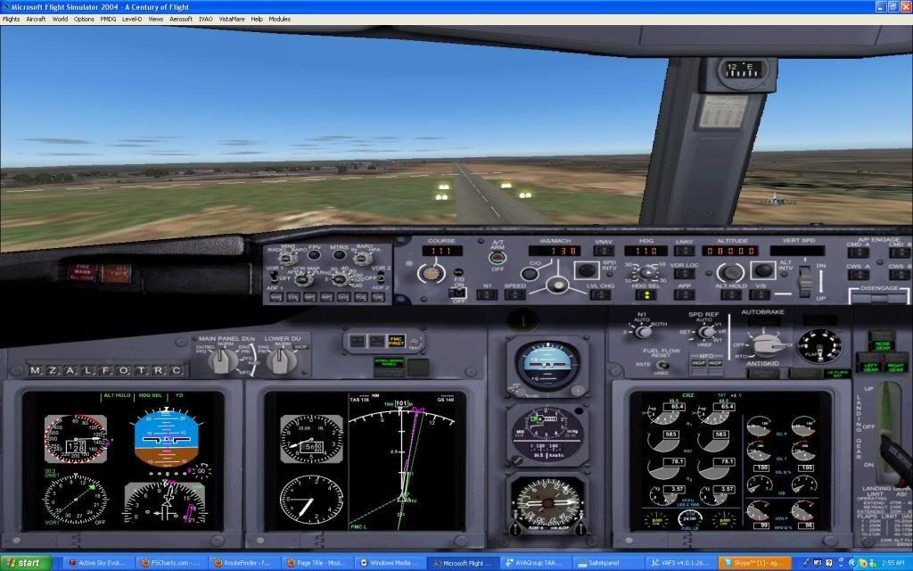 Domestic RFO Fnlu/Fnhu/Fngi and return route. Screen16-2