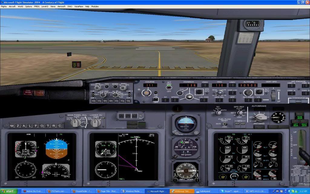 Domestic RFO Fnlu/Fnhu/Fngi and return route. Screen23-3