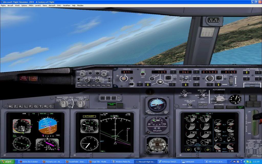Domestic RFO Fnlu/Fnhu/Fngi and return route. Screen69