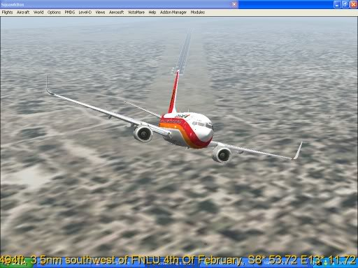 FNLU-FYWH-FNLU  missed approach @ FNLU for a safe landing. Ph-2009-aug-23-015