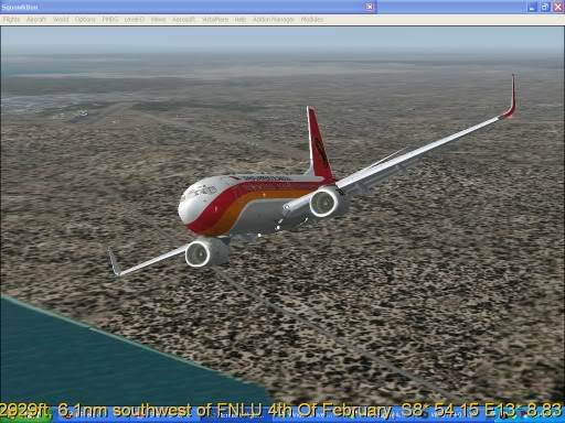 FNLU-FYWH-FNLU  missed approach @ FNLU for a safe landing. Ph-2009-aug-24-068