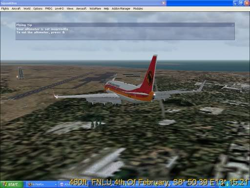 FNLU-FYWH-FNLU  missed approach @ FNLU for a safe landing. Ph-2009-aug-24-073