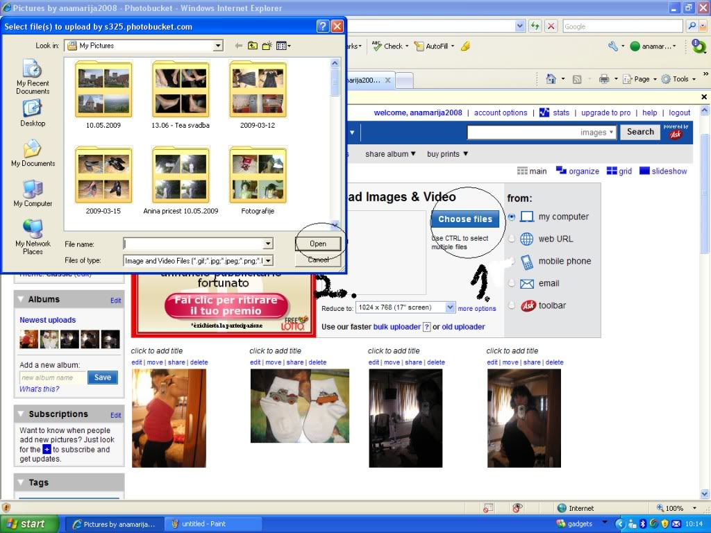 Kako staviti slikice Slike3korak
