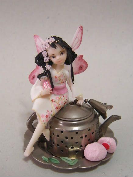 Fiori di ciliegio e foglie di tè - fatina giapponese DSC09376