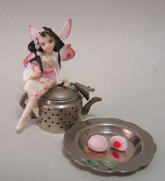 Fiori di ciliegio e foglie di tè - fatina giapponese DSC09383