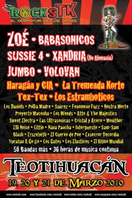 """Rock en Teotihuacan """"El despertar de los dioses"""" PosterTop102060x90rgb"""