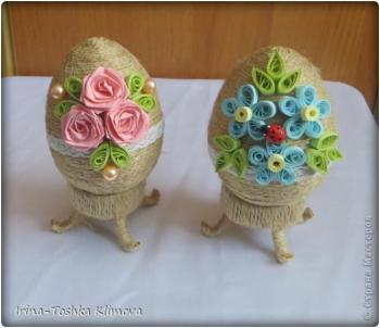 Пасхальные яйца из ткани, лент, джута.... C687d9c45a4ba6bac7bbe89e265216b0