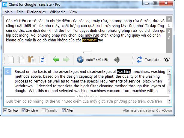 Google Translate Client Dic2
