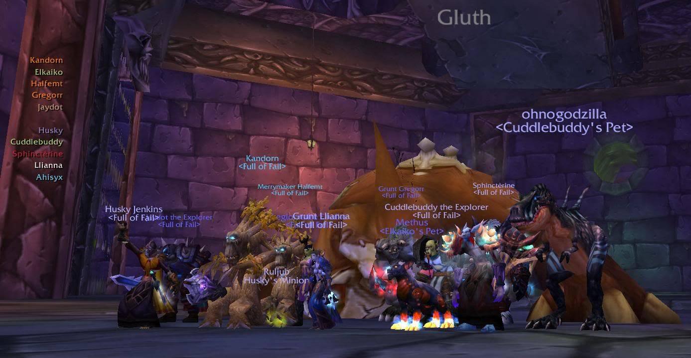 Naxxramas 10 Man Boss Kills FoFGluth
