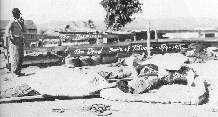 Invasión filibustera a Baja California. LoscaidosenladefensadeTijuanaMayo91