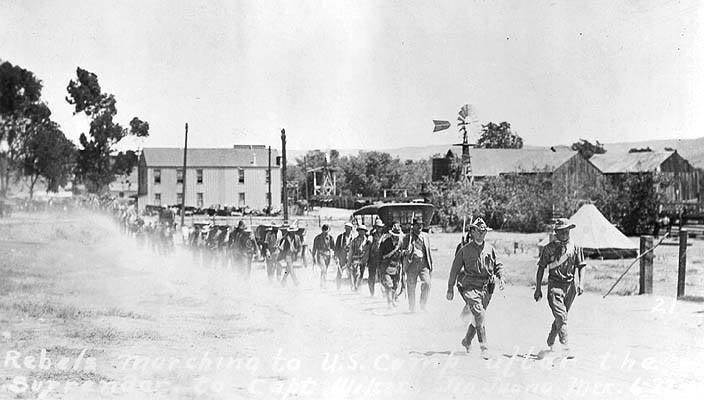 Invasión filibustera a Baja California. LoscobardescorriendoaEUJunio1911
