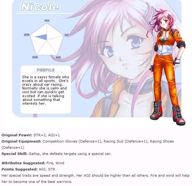 Tạo nhân vật Nicole