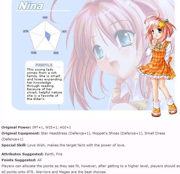 Tạo nhân vật Nina