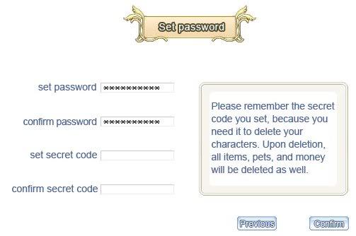 Tạo nhân vật SecretCode