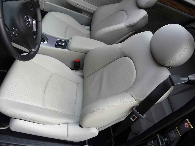 Claro - (MANUTENÇÃO): Interior claro - couro ou MB-Tex - suja muito? P1000561