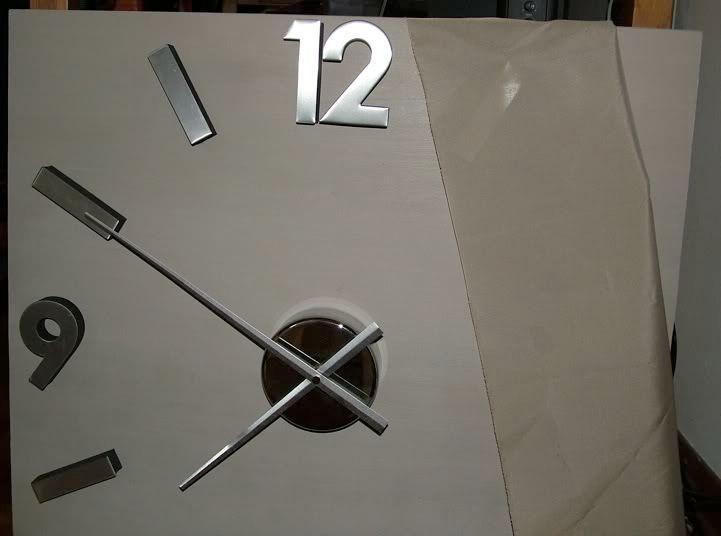Base in legno orologio Orologioconstoffa