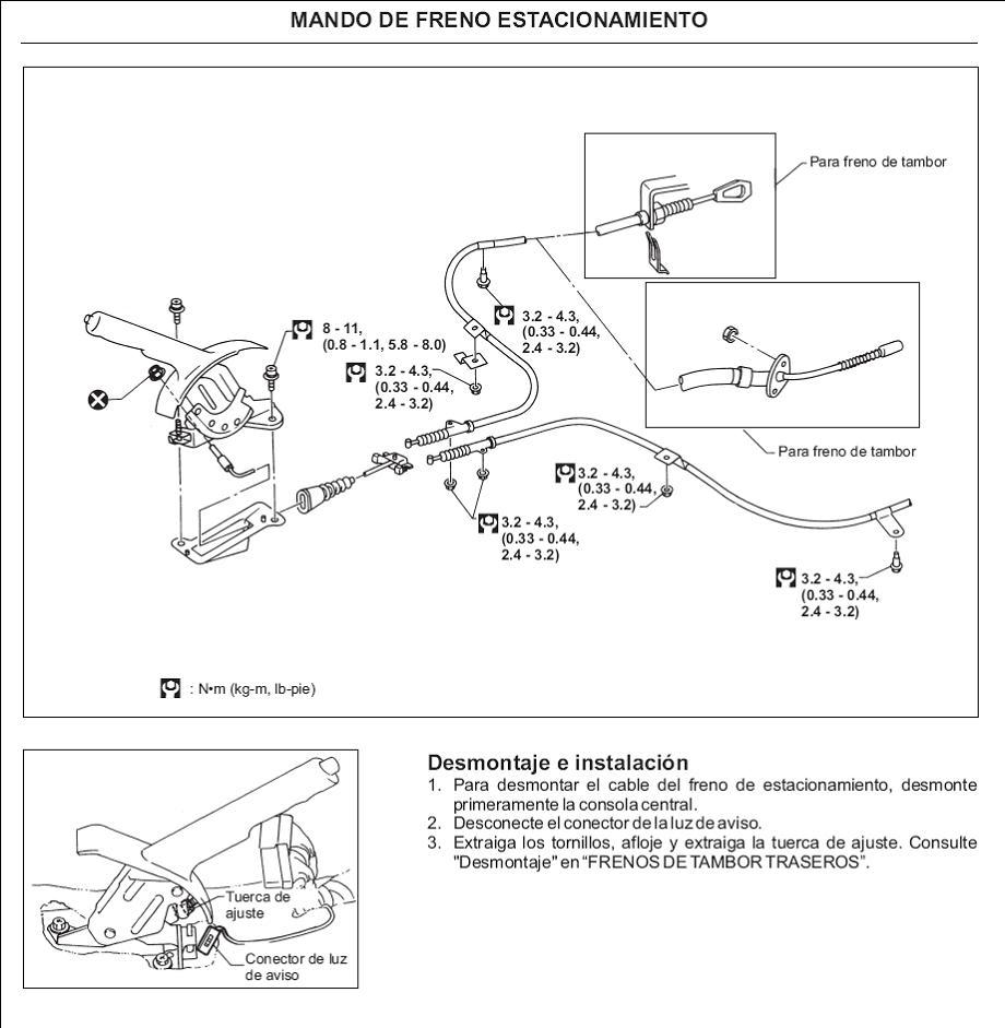 Cambio de balatas delanteras y traseras en Nissan Tsuru III (B13) Frenos6