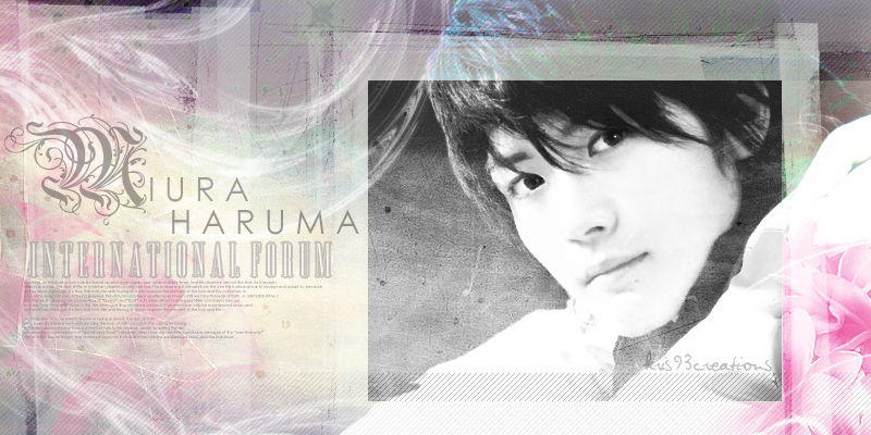 Miura Haruma International Forum