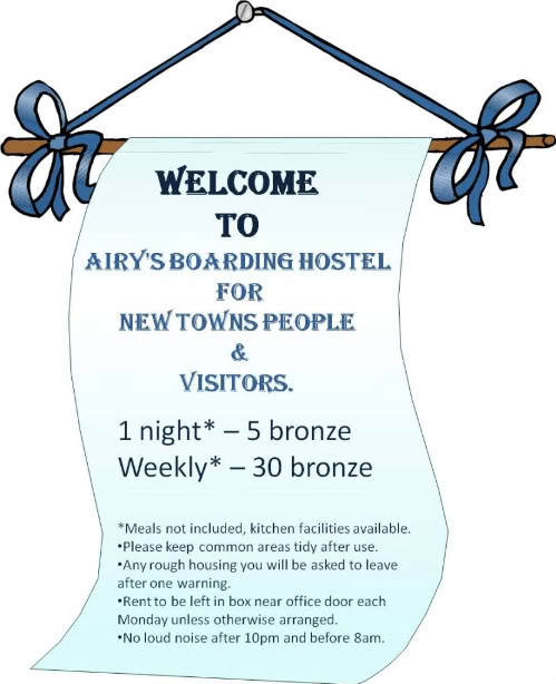 Airy's Boarding Hostel for New Towns People & Visitors. Boardinghousesign1png-1