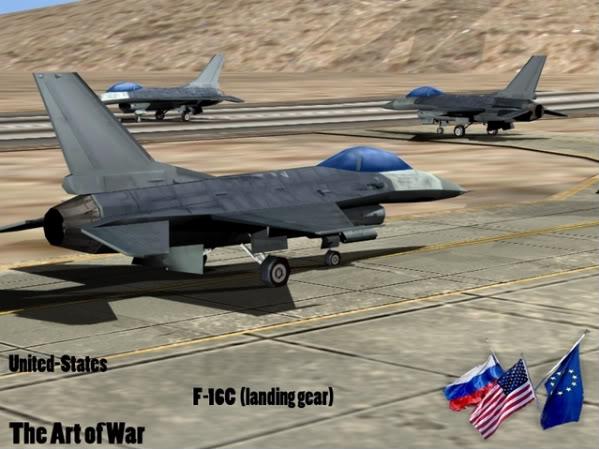 The Art of War Vehicles F16LandingGear1-1