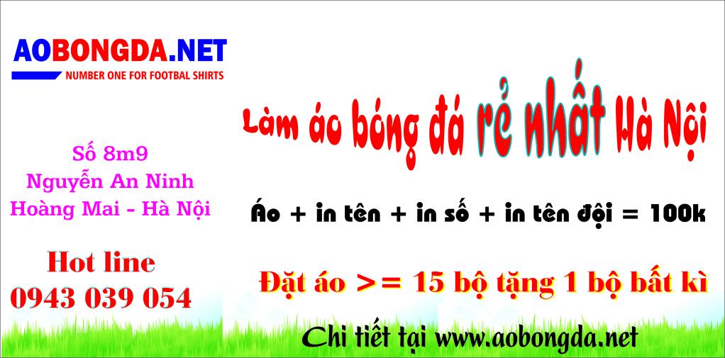 Làm áo đội bóng rẻ nhất Hà Nội, áo euro 2012 chỉ với 80.000đ/ 1 bộ Baneraobongda