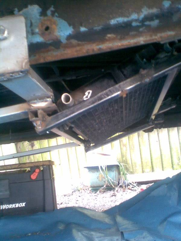 ..'76 Baywindow...briefly EJ20T now going superfly Tdi - Page 3 Coolerradmount
