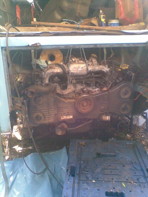 ..'76 Baywindow...briefly EJ20T now going superfly Tdi Setup1