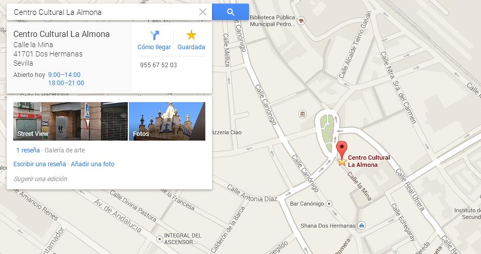 Localizacion del centro cultural La Almona Mapalaalmona_zps67ba4fc3