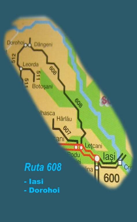 608 : Letcani - Dangeni - Dorohoi 608