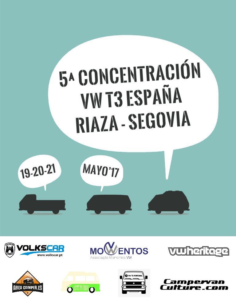 5ª Concentração VW T3 SPAIN - 19/20/21 maio 2017 - Riaza, Segovia - Espanha CARTELKDD_zps71kogejp