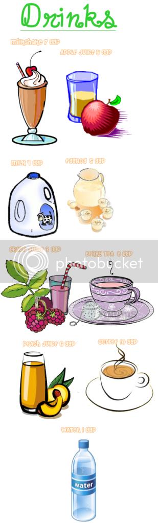 Drinks (5-10 points) Breakfast1