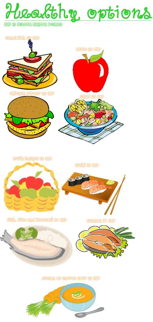 Healthy Food (20-35 points=food) Breakfast3