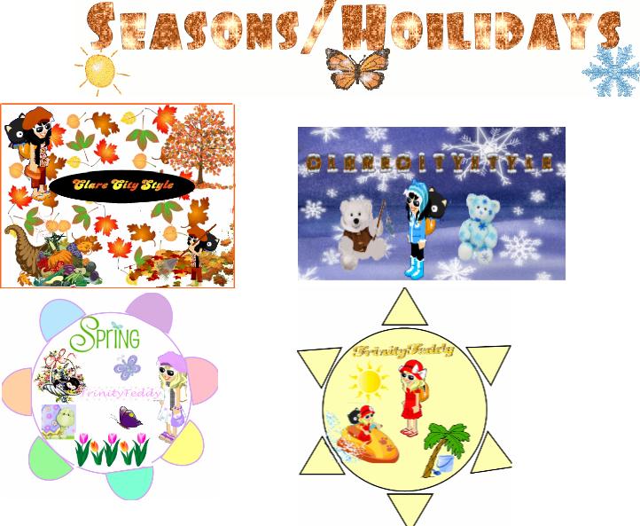 Clares High Class Graphics! Seasonshollidays