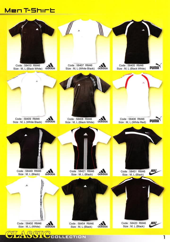 Pakaian, Kasut & Aksesori Lelaki, Wanita & Kanak2 MenT-Shirt