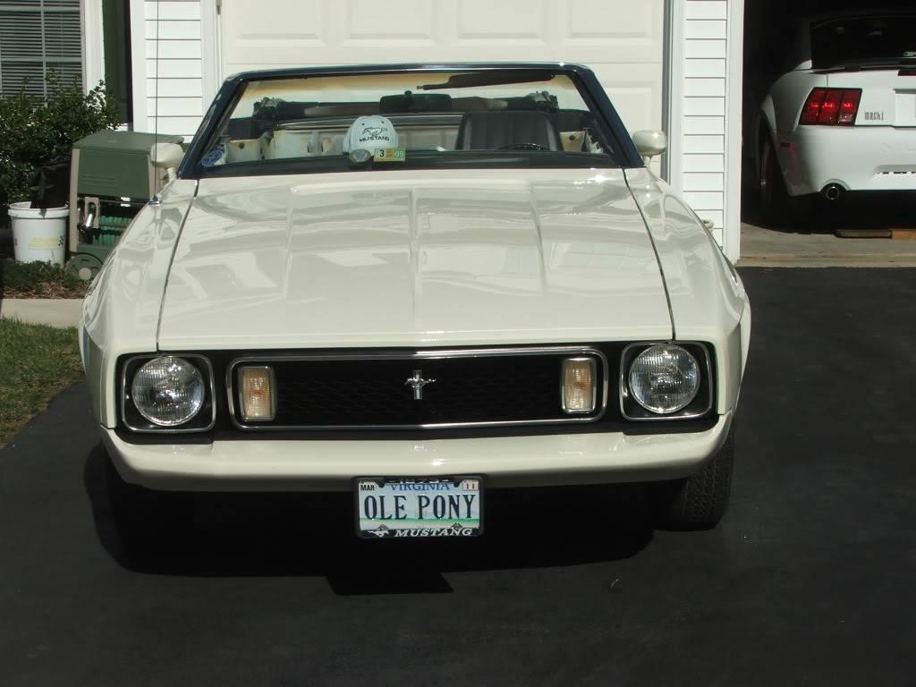 My 1973 Wimbledon White Mustang Convertible After First Repaint DSCF8163