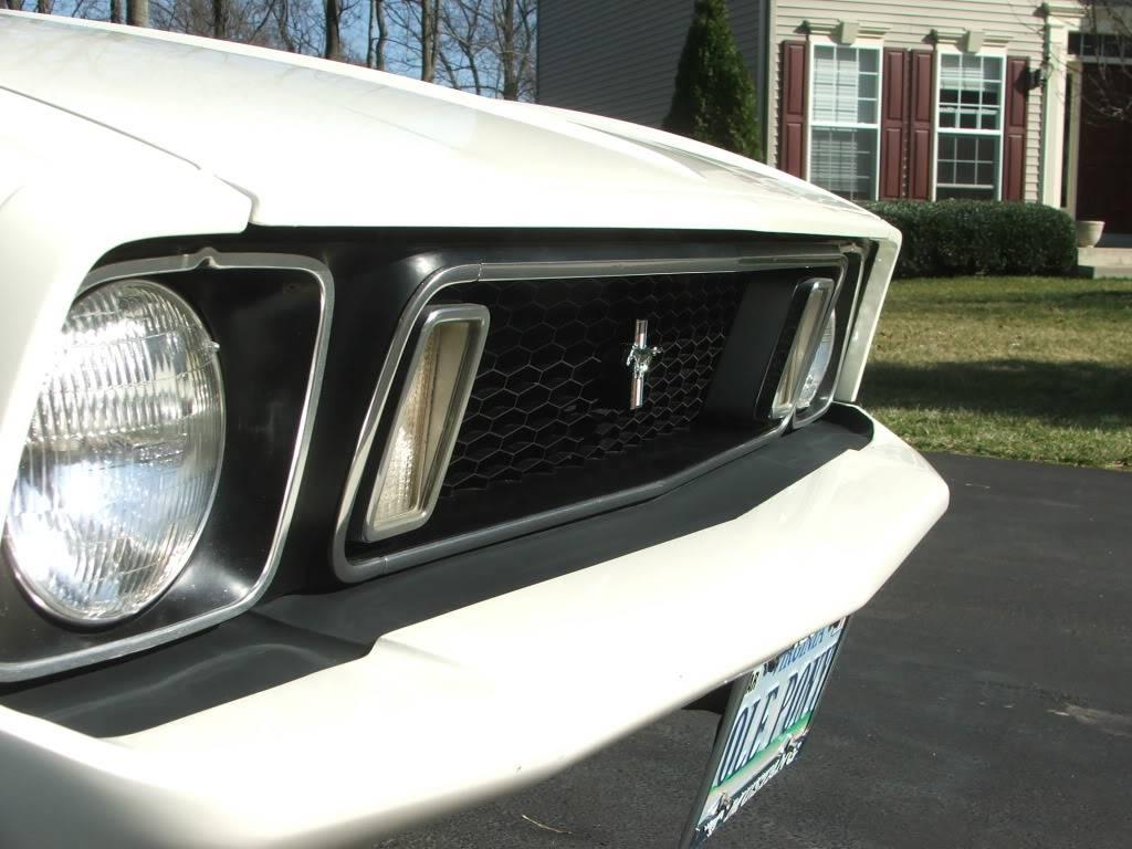 My 1973 Wimbledon White Mustang Convertible After First Repaint DSCF8165