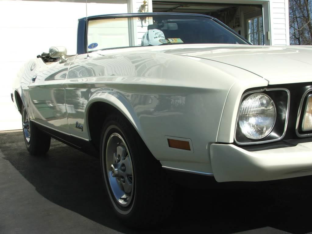 My 1973 Wimbledon White Mustang Convertible After First Repaint DSCF8166